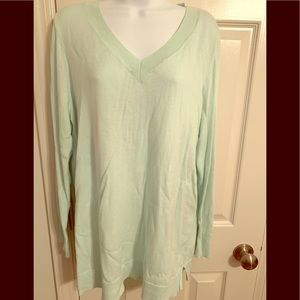 APT9 Mint Green XL lightweight v-neck sweater